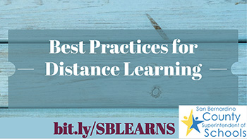 best Practices for Distance Learning graphic