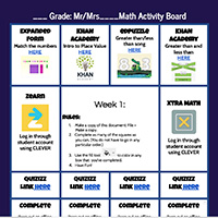 exampe Choice Board graphic