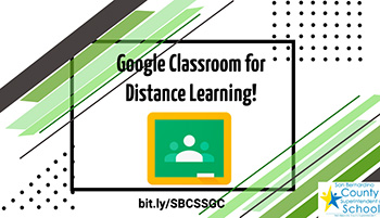 google Classroom for Distance Learning graphic