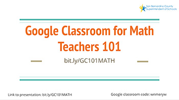 google Classroom for Math graphic