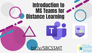 intro Microsoft Teams Distance Learning graphic