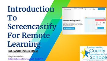 intro Screencastify For Remote Learning graphic