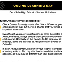 online Learning day graphic